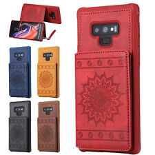 Flower Emboss Wallet Leather Card Shockproof Case Cover Fr Samsung Galaxy Note 9