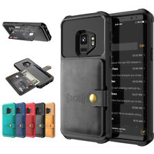 For Samsung Galaxy Note 9/S9 Plus Leather Card Wallet Shockproof Back Case Cover