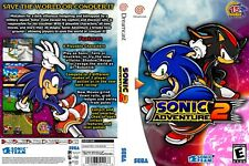 Sega Dreamcast replacement game case and Cover Sonic Adventure 2