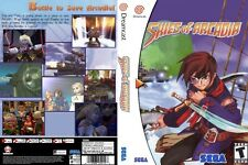 Sega Dreamcast replacement game case and Cover Skies Of Arcadia