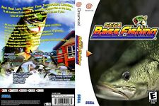 Sega Dreamcast replacement game case and Cover Sega Bass Fishing