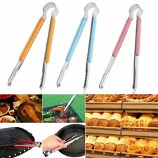 Cooking Tongs Stainless Steel Utensil BBQ Salad Steak Clip Clamp Kitchen Tools