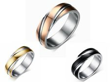 Luxury Fashion Size 5-13 Twill Stainless Steel Mans Womans Wedding Ring