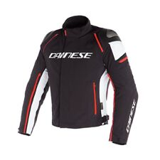 Giacca moto Dainese Racing 3 dry black white red nero bianco rosso N32 jacket
