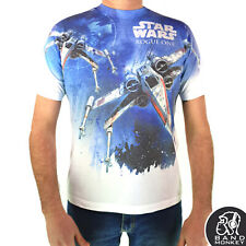 Star Wars Mens/Unisex T-Shirt Rogue One X-Wing (Sublimation Print)