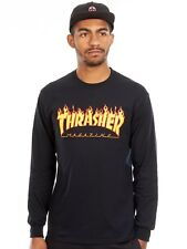 Thrasher Black Flame Logo Long Sleeved Shirt