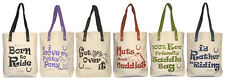 """Cotton Canvas Shopper from Moorland Rider.Lovely """"horsey"""" gift idea with slogan."""