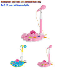 Kids Karaoke Mic Microphones For Singing With Stand With Light Effect Lot b