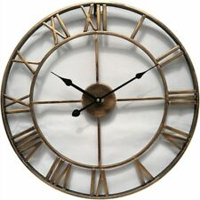 Vintage Clocks Circular Decorative Wall For Home Thick Plate Metal Single Face