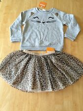 NWT Gymboree Catastic Cat Leopard Tulle Tutu Skirt Set Toddler/kid Girls