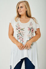 Ladies Top Plus Size Short Sleeve Women Blouse Tunic Shirt Loose Casual Floral