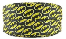 "Batman All Over Print 1"" Wide Repeat Ribbon Sold in Yard Lots - USA SELLER"