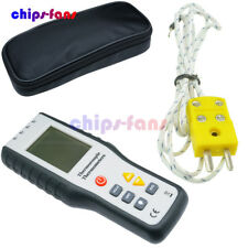 4-Channel K-Type Digital Thermometer Thermocouple Probe  LCD -200~1372°C Sensor