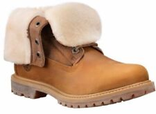 NIB Women's Timberland Authen SHEARLING FOLD-DOWN BOOT Wheat A16CR231 SIZE 6 6.5
