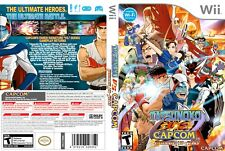 Nintendo Wii Replacement Game Case and Cover Tatsunoko Vs. Capcom: Ultimate All-