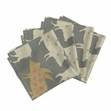 Pig Hog Swine Farm House Farm Country Cotton Dinner Napkins by Roostery Set of 4