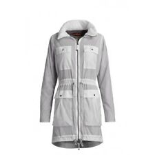 NEW $560 PARAJUMPERS WOMENS TRANSPARENT ASPHALT SANTA MONICA HOODED JACKET