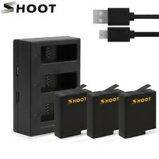 1220mAh AHDBT-501 Battery Pack with USB Charger for GoPro Hero 7 6 5 Black Sport