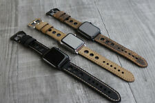 For Apple Watch Series 4 3 38/40/42/44mm Bull Leather Rally Strap Band Iwatch