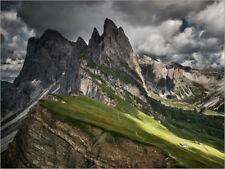 Poster / Toile / Tableau verre acrylique View over Seceda towa... - A. Wonisch