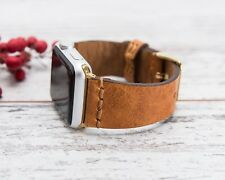 Handmade Compatible Apple Watch Strap  iWatch Leather Band 38mm 40mm  42mm 44mm