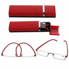 TR90 Ultralight Semi Rimless Reading Glasses Half Frame Reader Eyeglasses