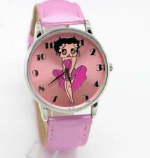 Wristwatch Women Leather Band Betty Boop Pattern Watches
