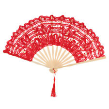 Spanish Lace Bamboo Folding Hand Held Dance Fan Wedding Party Props Flower