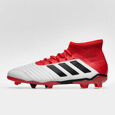 7db964772e3 adidas Predator 18.1 Firm Ground Kids Football Boots Trainers Sports Shoes  White