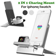 2-In-1 Charging Dock Stand Bracket Accessories Holder Kit For iPhone/Apple Watch