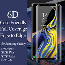 Tempered Glass Screen Protector Clear Skin For Samsung Galaxy S8 S9 + Note 9 SD