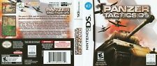 Nintendo DS replacement case with Cover Panzer Tactics DS