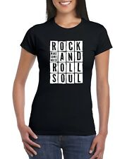 Rock And Roll Soul Grunge Womens Ladies Vintage Retro Old School Fitted T-Shirt