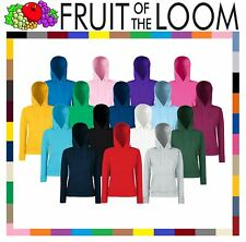 LADIES HOODED TOP FRUIT OF THE LOOM HOODIE CLASSIC LADY FIT HOODED SWEAT NEW