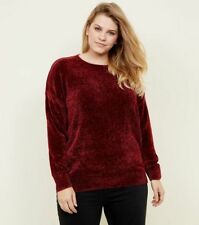 New Look CURVE Wine Red SUPER SOFT Chenille Jumper PLUS SIZE 18 20 22 24 be top