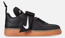 NIKE AIR FORCE 1 UTILITY CASUAL MEN's BLACK - WHITE - GUM MED BROWN AUTHENTIC SZ