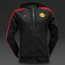 Addidas  Manchester United Womens 15/16 3 Stripe Hooded ZIP MUFC HD ZIW Black