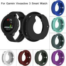 Silicone Protector Case Cover Shell For Garmin Vivoactive3 Smart Watch 45.4MM