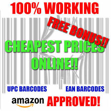 1-1M EAN Numbers Barcodes Upc Codes Amazon Barcode Google Itunes etsy Bar Code