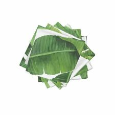 Cocktail Napkins Banana Leaves Banana Leaves Watercolor Leaves Tropical Set of 4