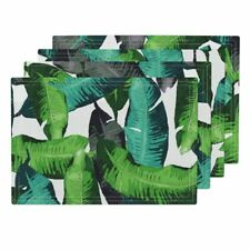 Cloth Placemats Leaves Tropical Banana Leaves Green Banana Leaves Set of 4