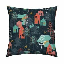 Christmas Winter Holiday Throw Pillow Cover w Optional Insert by Roostery