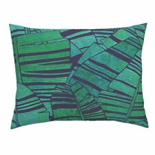 Banana Leaves Tropical Plant Summer Tropical Leaves Pillow Sham by Roostery
