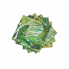 Cocktail Napkins Palm Palm Tropical Fronds Leaves Pineapple Banana Set of 4