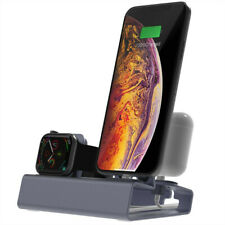 1 Set T030 2 in 1 Charging Dock Station Holder Stand For Apple Watch For iPhone