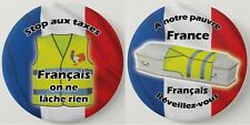 Pin Button Badge  LES GILETS JAUNES Ø56mm / Ø38mm