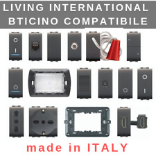 Bticino living international compatibile interruttore deviatore pulsante presa