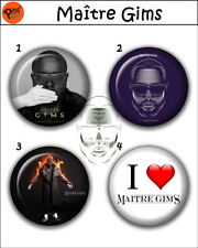"""Collection 4 Pin/Bouton/Badge 'Maître Gims' Ø32mm/1,25"""""""