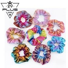 1PCS Girls Two-side Hair Rope Rainbow Elastic Hair Band Scrunchy Ponytail Holder