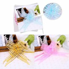 10Pcs Colorful Ribbon Flowers Bows Wedding Party Decor DIY Craft Gift Car Wrap